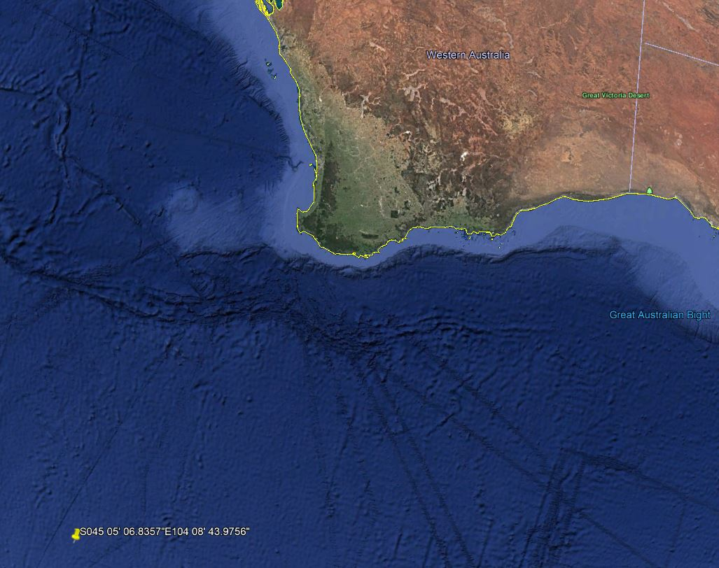 Data point 6 in Southern Indian Ocean